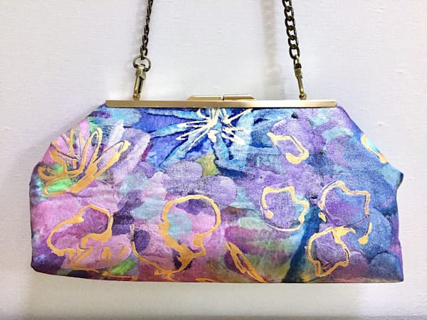Hand Painted Artsy Purse by Dorothy Fagan