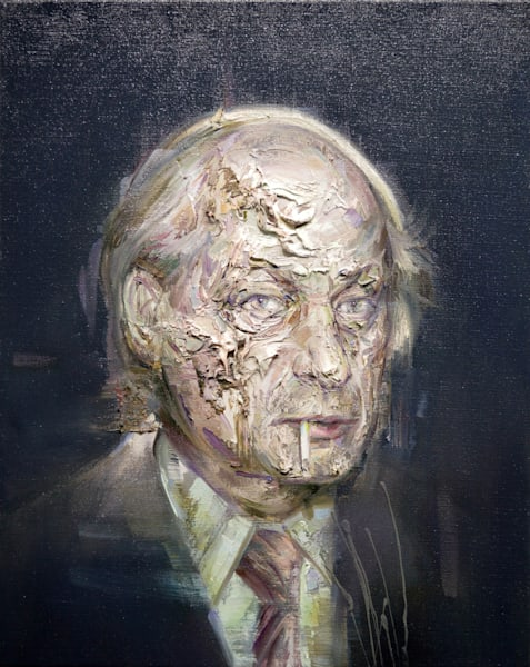 René Lévesque Ii (Oil On Print) Art | Mathieu Laca
