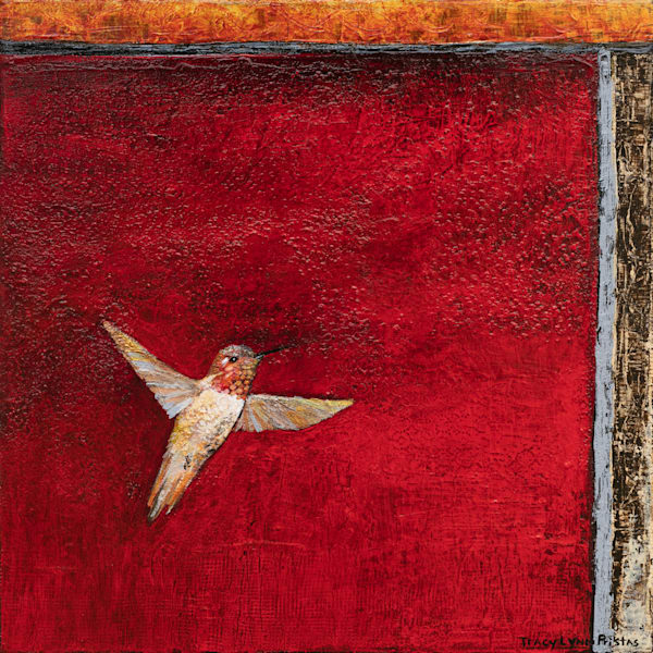 Red Hummingbird Original Painting