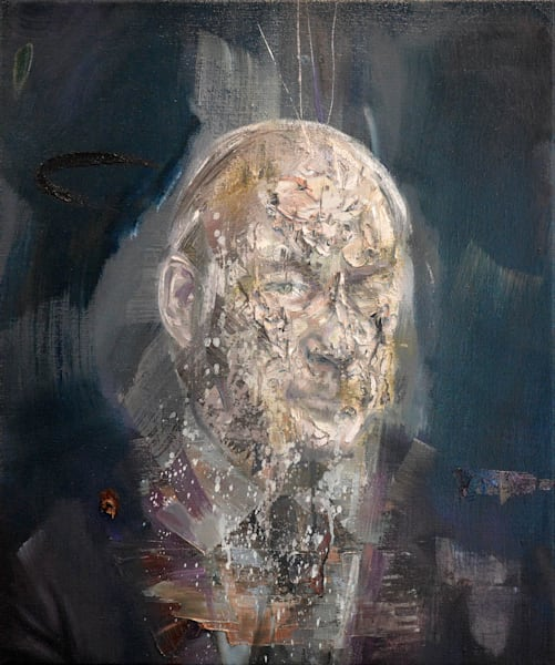 René Lévesque (oil on print)