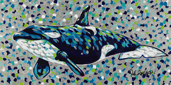 Willie, the original acrylic painting of a killer whale.