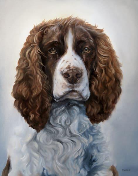 Springer Spaniel Portrait Art | Van Isle Dog Art