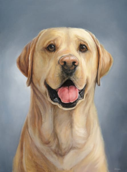 Labrador Retriever Portrait, Yellow Art | Van Isle Dog Art