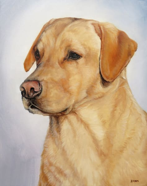 Labrador Retriever Portrait, Yellow 2 Art | Van Isle Dog Art