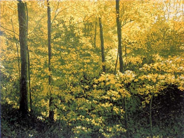Abundant Earth, a linocut print by William H. Hays