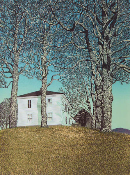 Halifax House, linocut print by William H. Hays
