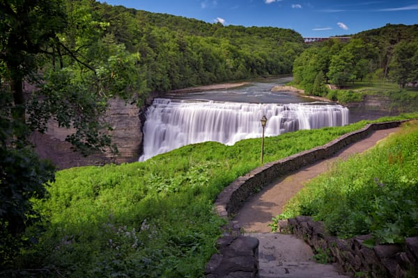 The Middle Falls of Letchworth State Park by Rick Berk