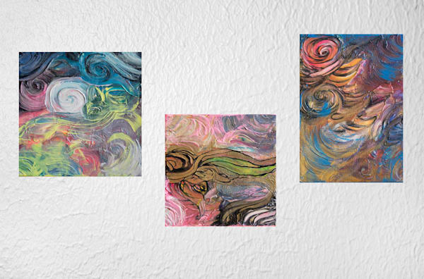 The Trinity Series - Three Acrylic Paintings on Canvas
