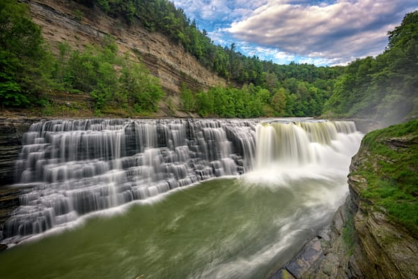 Lower Letchworth Falls by Rick Berk