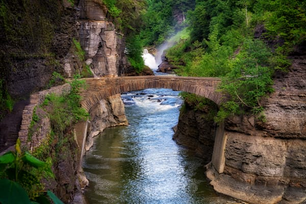 Stone Bridge Across the Genesee River by Rick Berk