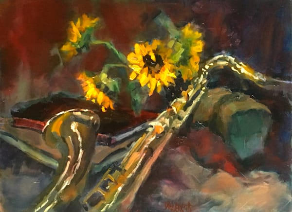 Sunflowers And Sax Art | donaldhildreth