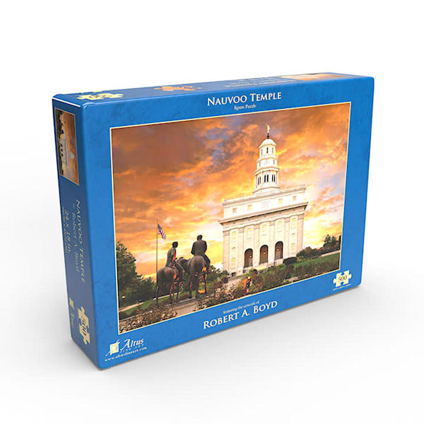 Nauvoo Temple with Statue 500 piece puzzle