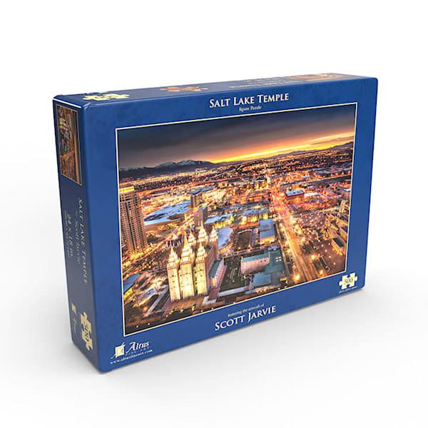 Salt Lake Temple - Night 500 piece puzzle