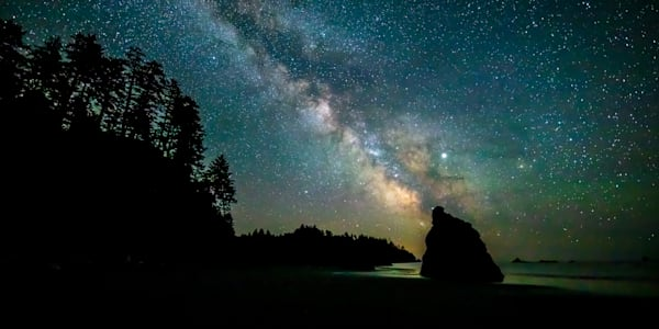 Pnw Ruby Beach Milky Way 2 Photography Art | John Martell Photography