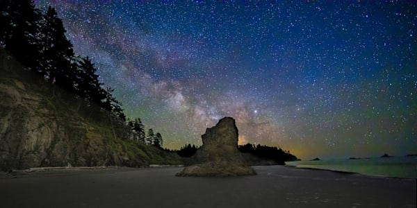 Ruby Beach Milky Way 3 Photography Art | John Martell Photography
