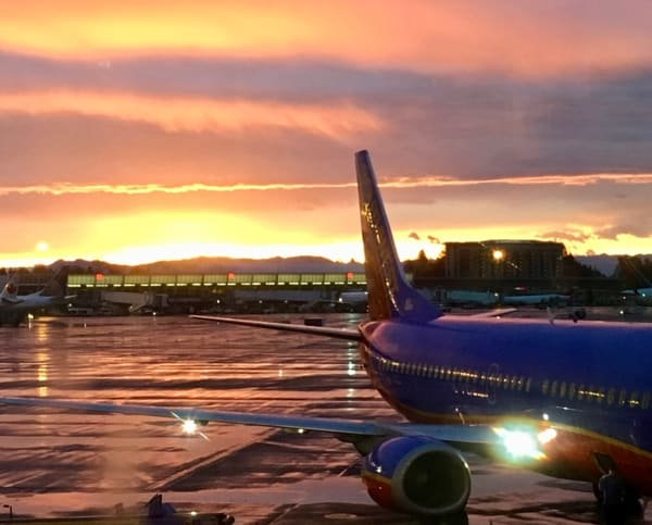 Sunset at the Oakland Airport available for Sale as Fine Art