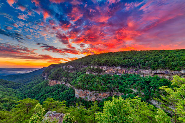 Cloudland Canyon sunrise photography print