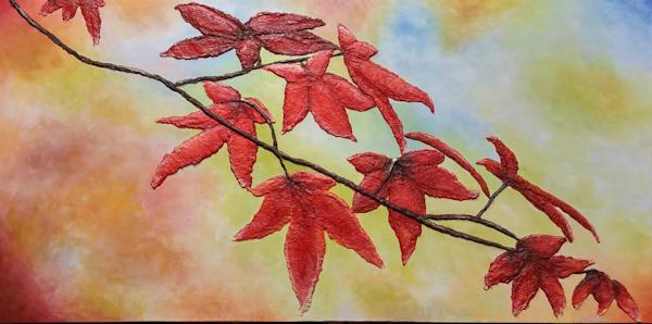 Pastel Leaves Art | Alison Galvan Fine Art