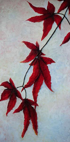 Red Cascade Art | Alison Galvan Fine Art
