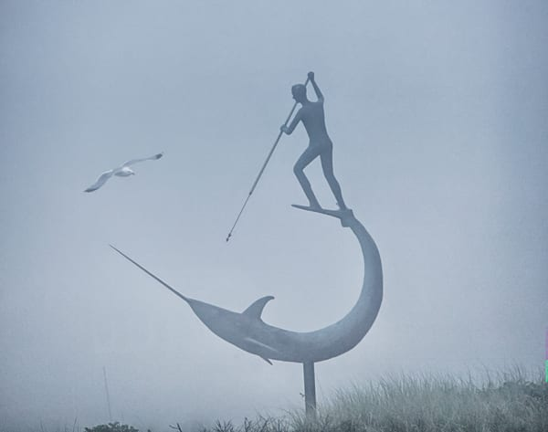 Menemsha Swordfisherman Fog And Gull Art | Michael Blanchard Inspirational Photography - Crossroads Gallery