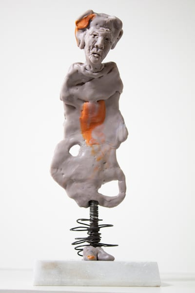 figurative wax and wire sculpture