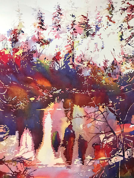 Wild Red and Purple  Reflections.  Shop Prints/ Patrice Cameron Art