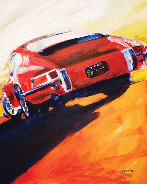 Red Early Porsche 911  Art | Telfer Design, Inc.