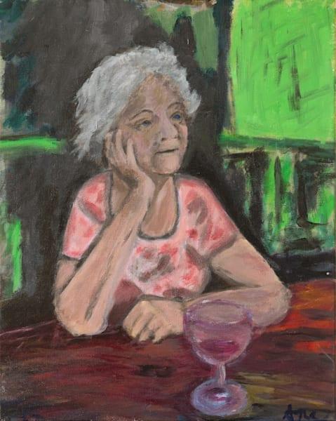 Maman à la Terrasse original art,Expressionist art