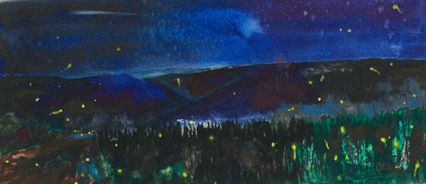 Dark Skies And Fireflies Art | David Beale