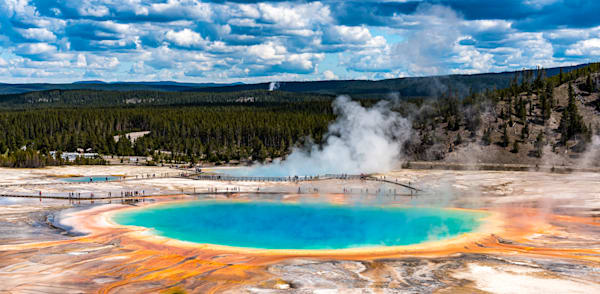 Grand Prismatic Spring (Cropped) Photography Art | Gingerich PhotoArt