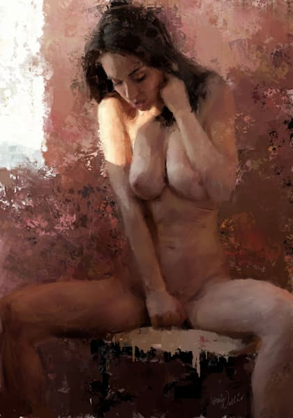 Pink Room Girl Limited Edition by Eric Wallis. Signed and numbered with certificates of authenticity.