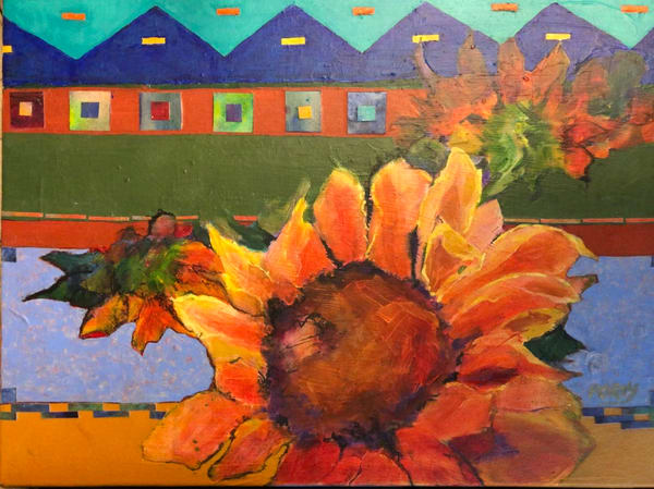 Taos Sunflower Art | PoroyArt