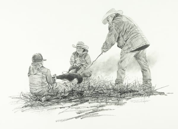 "Raymond Wattenhofer Fine Art Print ""Ground Crew"""