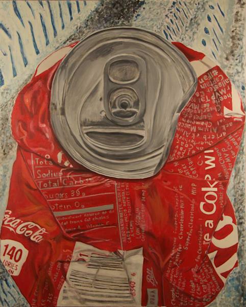 Coke,Crushed,Flattened,Soda,Can