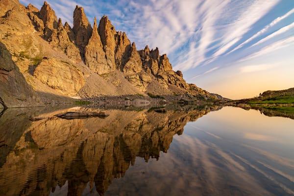 Photo of Cathedral Spires Arrow Reflection Sky Pond RMNP Colorado