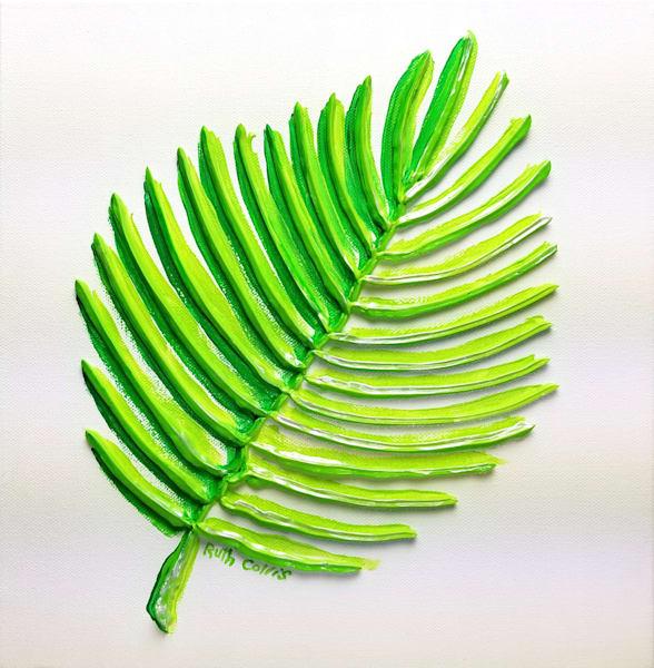 Palm Art   Sculpted Paint