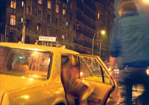 West 23rd Street Taxi in Rain