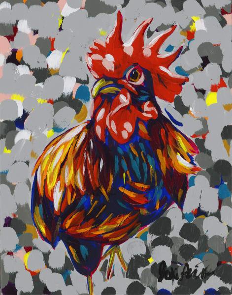 Crow, original artwork by Jodi Augustine.