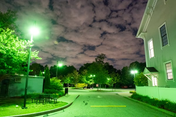 Ashland Streetlights: Town Hall Parking Lot