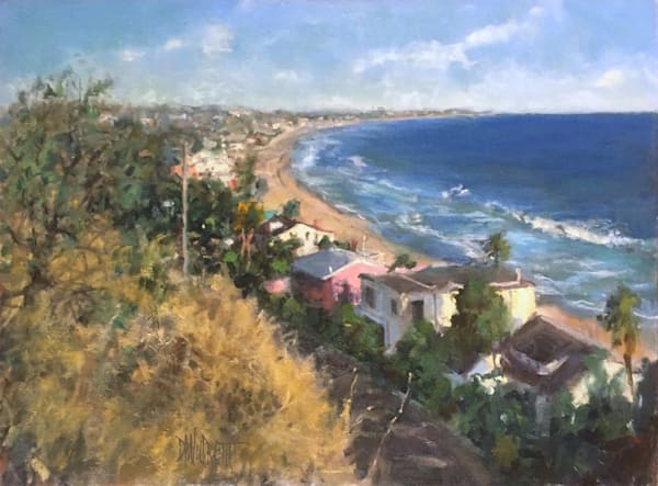 Malibu coast ocean oil painting