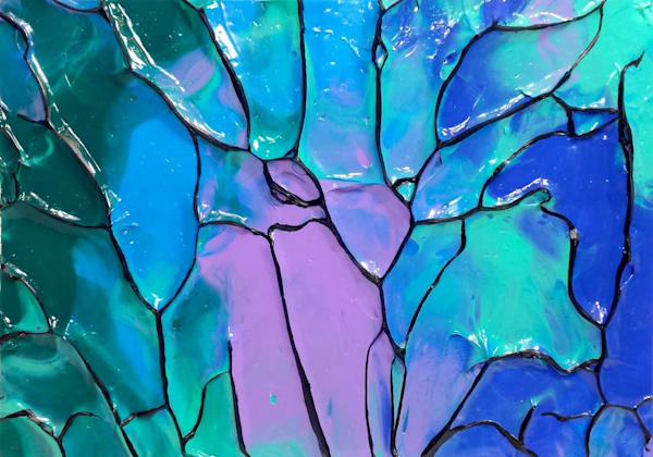 Underwater Abstraction Art by Sculpted Paint