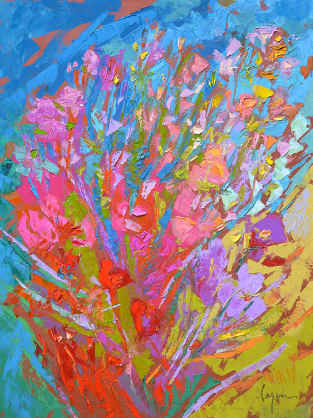 Abstract Wildflowers Painting, Fine Art Print by Dorothy Fagan