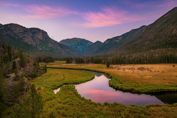 Photo of the East Inlet Meadow & Mount Baldy Rocky Mountain National Park Colorado