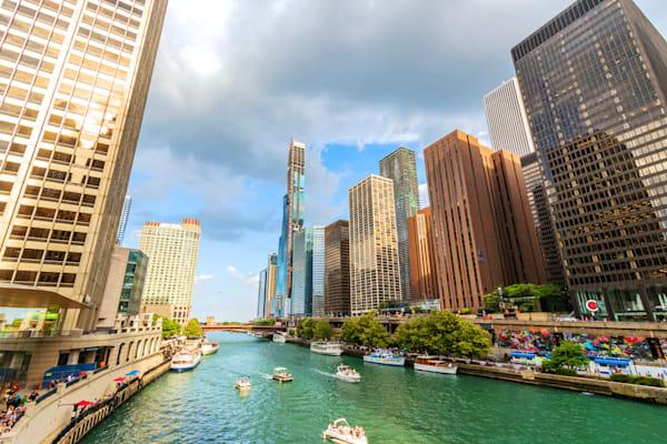 Chicago River at Michigan Avenue - Fotos de Chicago | William Drew