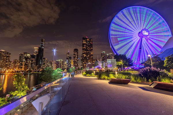 Navy Pier and Chicago Skyline