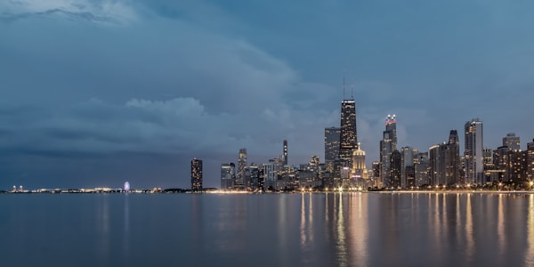 Storm Clouds over Chicago - Chicago Skyline Photos for Sale | William Drew
