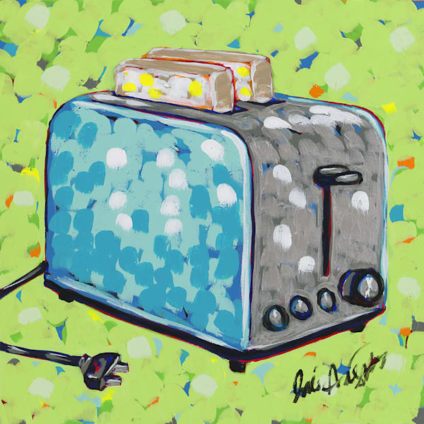 Toaster, an original painting by Jodi Augustine.
