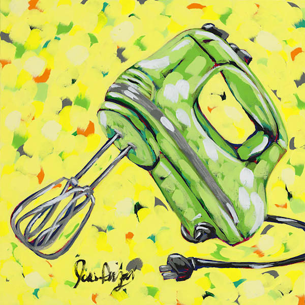 Mixer, an original acrylic painting by Jodi Augustine Art.