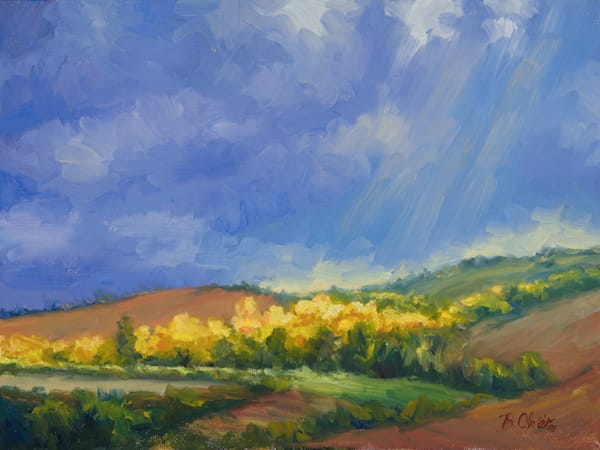 Tuscan Vineyard Art | B. Oliver, Art