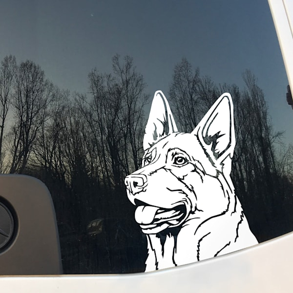 German Shepherd Dog Vinyl Sticker
